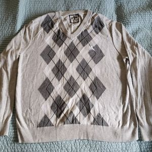Express Grey/White Diamond Sweater